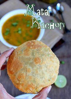 Matar Kachori(Green Peas Kachori) and Alu Sabzi - Delhi style North Indian Recipes, Indian Food Recipes, Asian Recipes, Indian Appetizers, Indian Snacks, Veg Recipes, Snack Recipes, Cooking Recipes, Breakfast Recipes