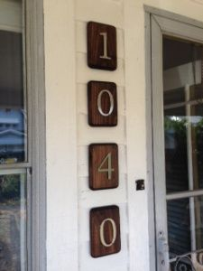 Painted House Numbers On Curb Google Search Picture This With An
