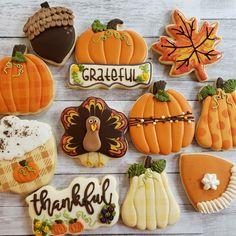 Fall Decorated Cookies, Fall Cookies, Pumpkin Cookies, Brownie Cookies, Cookie Bars, Thanksgiving Cookies, Thanksgiving Turkey, Christmas Cookies, Sugar Cookie Royal Icing