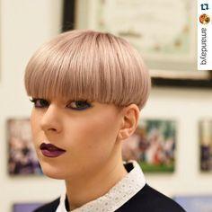 2017 Fall 2018 Winter Hairstyles Fall Hairstyles Winter Schussel Geschnitten Styling Kurzes Haar Pilz Frisur
