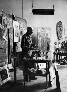 """Georges Braque (1882-1963) believed that an artist experienced beauty """"… in terms of volume, of line, of mass, of weight, and through that beauty [he] interpret[s] [his] subjective impression...""""  He described """"objects shattered into fragments… [as] a way of getting closest to the object…Fragmentation helped me to establish space and movement in space"""". ~  http://en.wikipedia.org/wiki/Georges_Braque"""