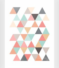 Triangles print Scandinavian print Abstract by ShopTempsModernes