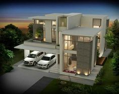 Architecture & Design aims to spread the best of Architecture + Design to. Architecture Design, Contemporary Architecture, House Front Design, Modern House Design, Casas Containers, House Elevation, Villa Design, Modern House Plans, Facade House