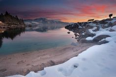 amazing Lake Tahoe of sunset by Bearden Bearden Swadley Photography Lake Tahoe Nv, Lake Tahoe Winter, You Make Beautiful Things, Beautiful Places, Simply Beautiful, Dream Vacations, Vacation Spots, Backpack Through Europe, Dream Photography