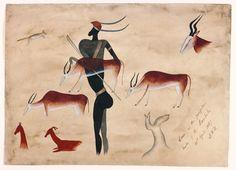 South African rock art Cave Paintings, Aboriginal Art, Petroglyphs, Prehistoric Art, South African Art, Ancient Art, Art History, Beautiful Art, Rock Art