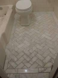 herringbone floor bathroom