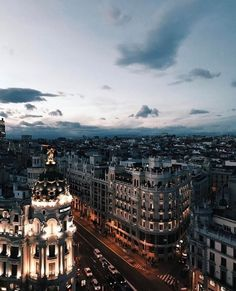 Gran Via, Madrid, Spain City Aesthetic, Travel Aesthetic, Great Places, Places To See, Beautiful World, Beautiful Places, Wanderlust, City Vibe, To Infinity And Beyond