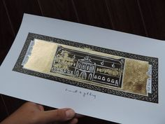 (un)intentional contemporary art in Transylvania: Banffy palace Cluj - gilded linocut