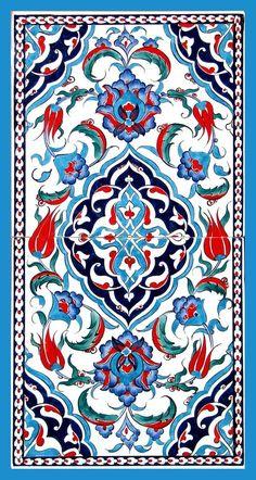Iznik tiles for alcove Turkish ceramic art Tile Patterns, Pattern Art, Textures Patterns, Turkish Art, Turkish Tiles, Portuguese Tiles, Moroccan Tiles, Motif Oriental, Islamic Tiles