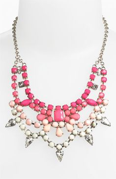Stephan & Co. Ombre Statement Necklace Pink $22.00