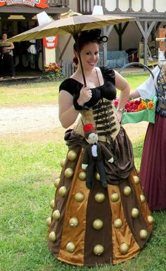 Dalek dress -- I need to become better friends with @Natalie Dawn so that she can impart her sewing wisdom, because I NEED THIS