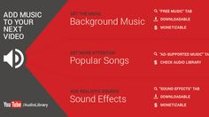 There are more choices for free and legal music to use in your videos than ever before. Royalty Free Songs, Free Music Archive, Popular Ads, Music Tabs, Copyright Free Music, Social Media Buttons, Add Music, Commercial Ads, Film School