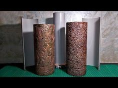 Form for casting a vase from gypsum | Vase from gypsum and leaves | Vase made of gypsum and foil - YouTube