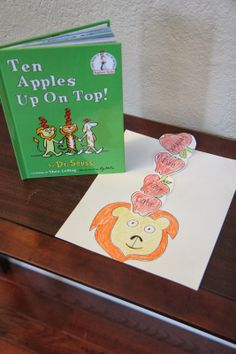 Dr Seuss ten apples up on top activity - use students face and put facts about them or rhyming words etc in each apple
