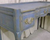 Shabby Blue French Provincial Dresser / Chest  - Chic DR901 - Widdicomb Grand Rapids piece