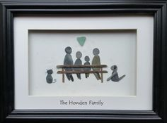 Pebble Art Family, Pebble Pictures, Personalised Family Portrait, Fathers Day, £39.00