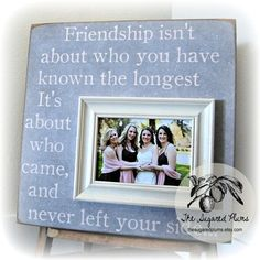 Best Friend Picture Frame Bridesmaid Gift by thesugaredplums