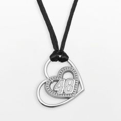 """Insignia collection nascar jimmie johnson sterling silver """"48"""" heart pendant on shopstyle.com"""
