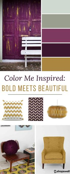Bold purple and classic gold are the inspiration behind this collection. Decorating with jewel tones definitely makes a visually bold statement but don't be afraid of this home decor trend - once you go bold you never go back!