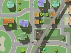 City Timelapse designed by HolyPix. Connect with them on Dribbble; Top Down Game, Wayfinding Signs, Game Design, Ui Design, City Model, Game Environment, City Illustration, Blender 3d, New City