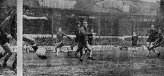 Chelsea 3 Man City 1 in Dec 1969 at Stamford Bridge. David Webb squeezes a goal in for Chelsea #Div1