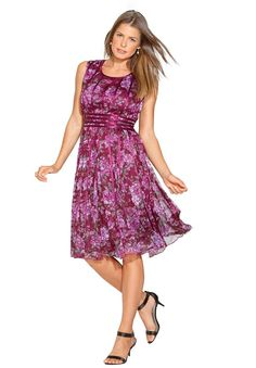 6c2cd8104afe1 Roamans Women s Plus Size Printed Mesh Dress     Check this awesome image   Plus  size fashion