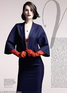 Michelle Dockery ditches her Downton Abbey fashion for a red hot sexy fashion shoot   Mail Online