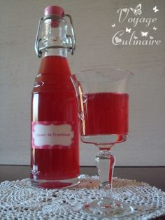 Liqueur de framboise - Raspberry liqueur