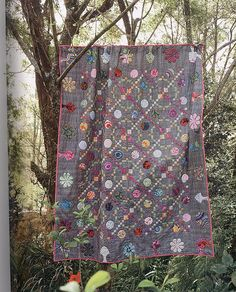 Charlotte Sometimes quilt from Material Obsession Two. love gray taupe background to make colors pop
