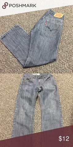 Boys Levi's Jeans Worn a few times. No holes tears, or issues. The waist is not adjustable and He just refused to wear a belt! There ya go! Size 10 with 25 inseam. Levi's Bottoms Jeans