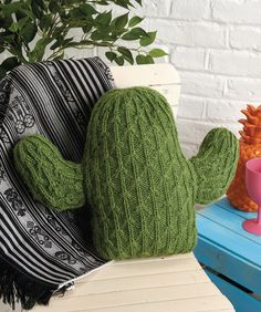 Knit the ultimate houseplant, Zoe Halstead's woolly  little cactus – no water, no fuss, just cuddles! Find the pattern in issue 163 of Simply Knitting