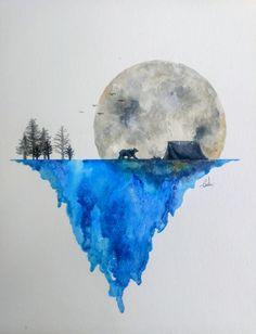 Easy Watercolor, Watercolor Animals, Watercolor Paintings, Watercolor Landscape, Watercolor Whale, Watercolor Trees, Watercolor Artists, Watercolor Portraits, Watercolor Paper