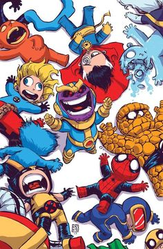Infinity #4 (of 6)(Skottie Young Variant Cover)