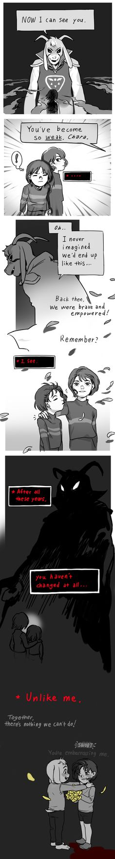 Undertale Comic: What if.. by alganiq on DeviantArt <<< This is something I'd picture from Underfell or a similar AU.