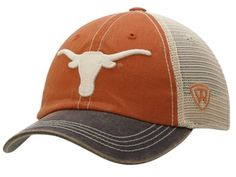 Texas Longhorns Top of the World Orange Gray Offroad Flexfit One Fit Hat Cap