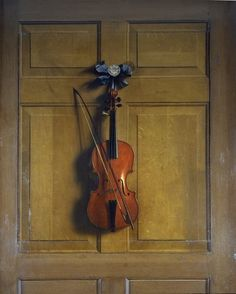 Violin and bow hanging on a door © Bridgeman Art Library / Chatsworth House, Derbyshire, UK / © Devonshire Collection, Chatsworth / Reproduced by permission of Chatsworth Settlement Trustees Fine Art Prints, Framed Prints, Canvas Prints, Dutch Still Life, Famous Art, Wood Paneling, Oil On Canvas, Creative Art, Art Reproductions