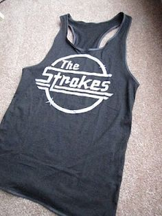 DIY: how to make a razor back tank top from tshirt. Doing this with white shirt and painting an American flag on it