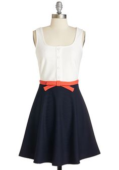 """Just a Matter of Maritime Dress. Say """"ahoy"""" to this colorblocked dress and find yourself instantly smitten! #multi #modcloth"""