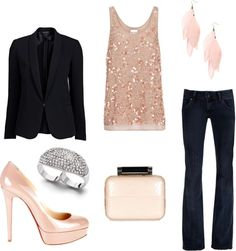 """Pink and Black Night Out"" by kajora on Polyvore"