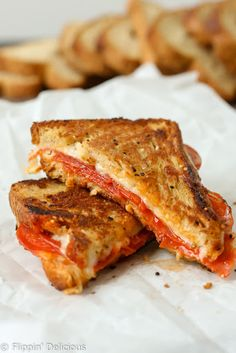 Gluten Free Pepperoni Pizza Grilled Cheese Sandwich With Gluten-free Bread, Mozzarella Cheese, Pepperoni, Pizza Sauce, Butter, Minced Garlic