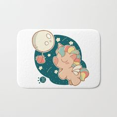 Buy DREAMING ABOUT CARROTS Bath Mat by sucdecoco. Worldwide shipping available at Society6.com. Just one of millions of high quality products available #kawaii #illustration #unicorn #moon #stars #rainbow #decokids #children #nursery #carrots #society6 #home #comforters #cosyhome #bathroomdecor #cute #bathroommat #animals