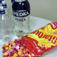 Starburst Vodka Tutorial... We've made the Skittles Vodka as well...   :)