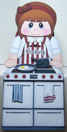 3D On the Shelf Card Kit - Little Cook Marielle is a whiz in the Kitchen Gallery - CraftsuPrint