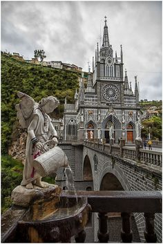 Las Lajas Sanctuary is a basilica church located in southern Colombia