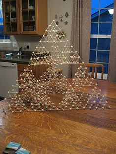 Mystery of History -Almost Unschoolers: Building a Bigger Pyramid - Marshmallow and Toothpick Tetrahedrons Take II