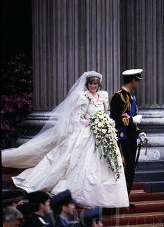 La Princesa Diana el día de su boda en 1981.