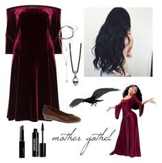 """""""mother gothel"""" by lily-bansema ❤ liked on Polyvore featuring Manon Baptiste, Soft Style By Hush Puppies, ibride, King Baby Studio, Erica Lyons, Witchery and Edward Bess"""