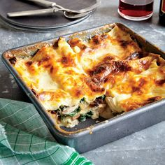 Chicken, Spinach, and Mushroom Lasagna  | MyRecipes