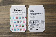 カラフルな活版印刷のショップカード | 活版印刷、特殊加工の名刺│メイシスト