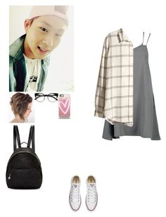 """""""date with jooheon"""" by rainbow22xd ❤ liked on Polyvore featuring Boohoo, H&M, Converse, Casetify and STELLA McCARTNEY"""